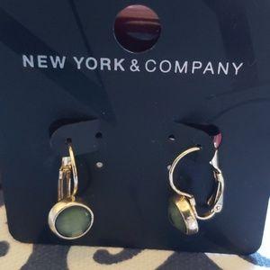 NWT NY&CO Green & Gold Earrings